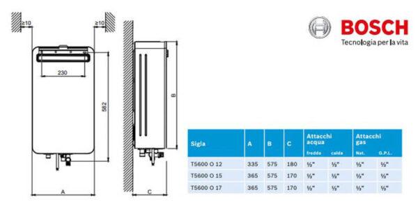 Scaldabagno a gas da esterno - Bosch New Therm 56000 - 15 l/m